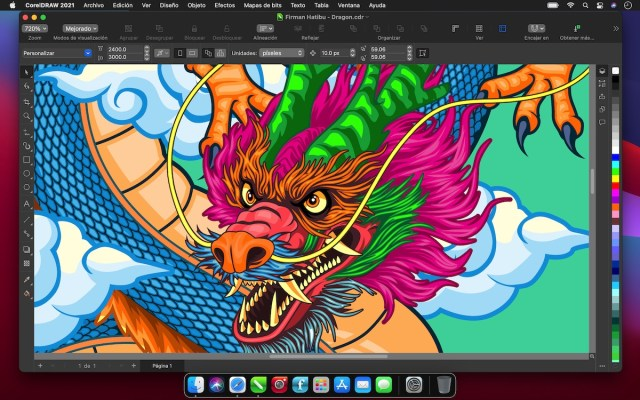 CorelDRAW Graphics Suite 2021 for Mac – Dark UI_ES