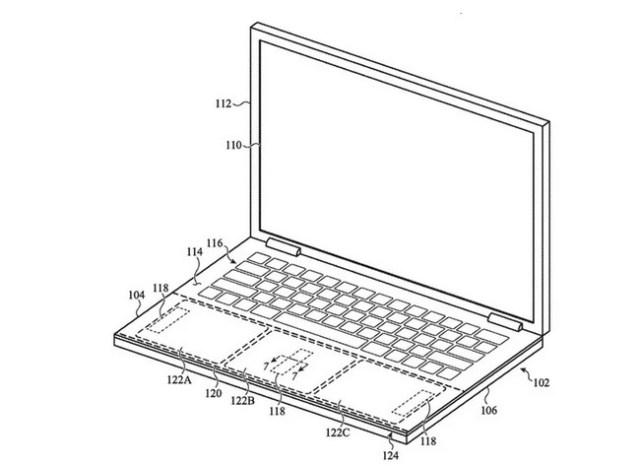 Patente de retroalimentacion haptica ampliada en los MacBooks