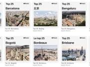 Ciudades top 25 Apple Music