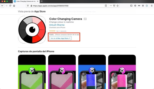 Color changing camera