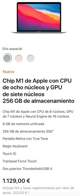 MacBook Air con M1 Precio España
