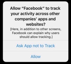 Permiso de rastreo App Tracking