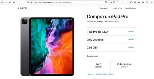 """Precios iPad Pro 12,9"""" España"""