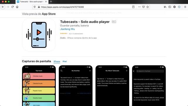 Apps y juegos gratis, Tubecasts