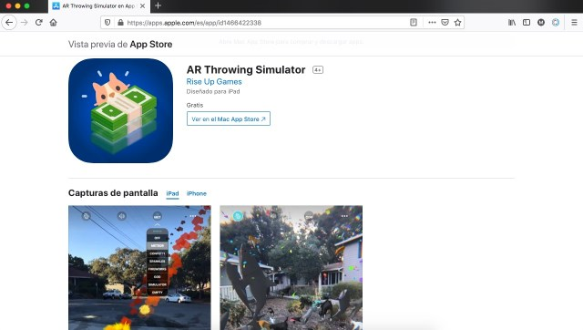 Apps y juegos gratis, simulador de AR