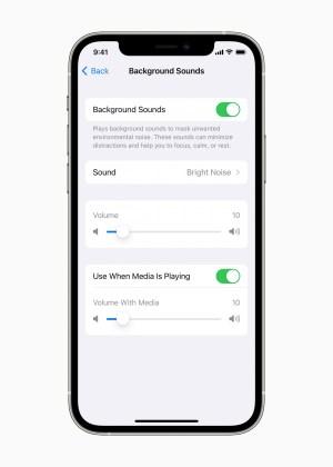 Sonidos de fondo Apple accesibilidad