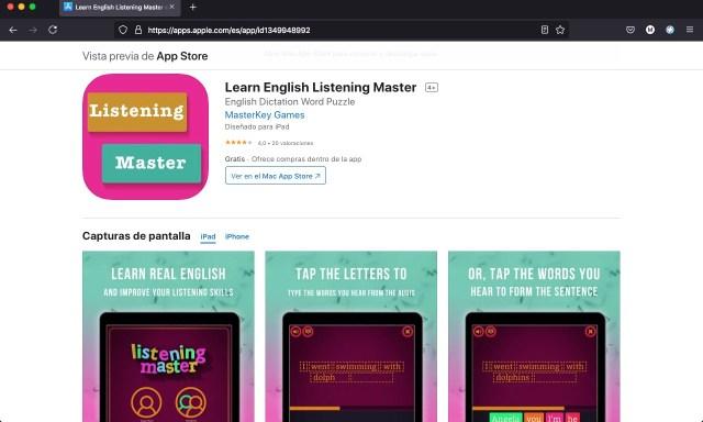 Apps y juegos gratis de ingles
