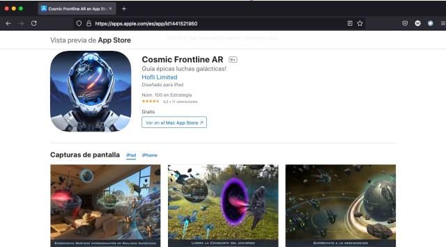 Apps y juegos gratis en AR