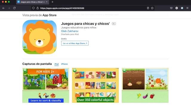Apps y juegos gratis para niños de 2 a 5 años