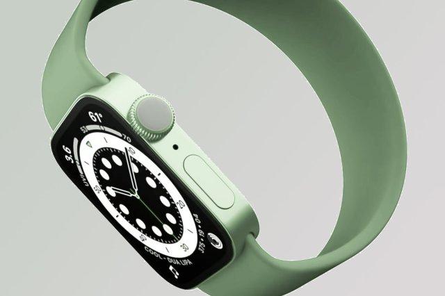 Concepto del nuevo Apple Watch Series 7