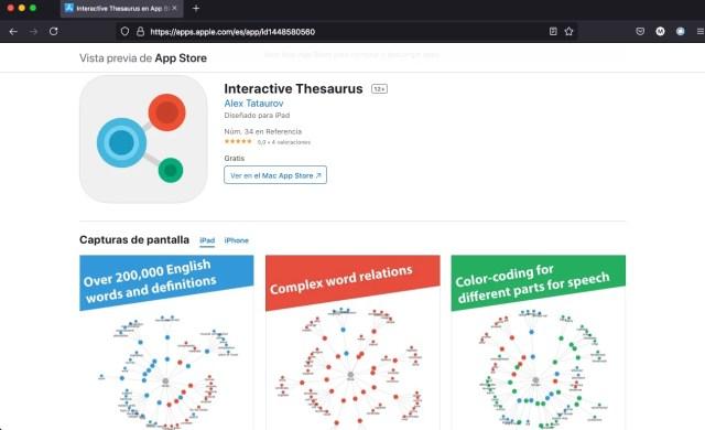 Interactive Thesaurus