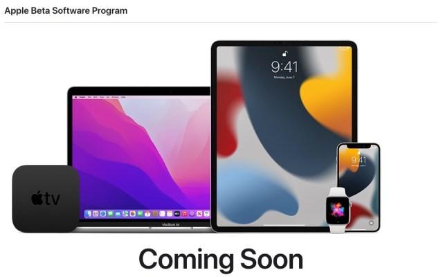 Programa de betas publicas de Apple 2021