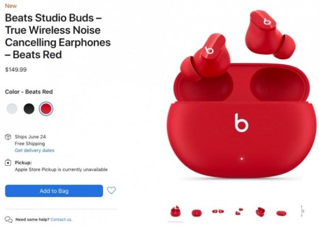 Venta de Beats Studio Buds en EEUU