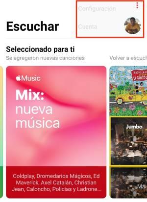 Configuracion de Apple Music en Android