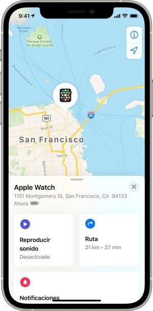 Encontrar un Apple Watch perdido