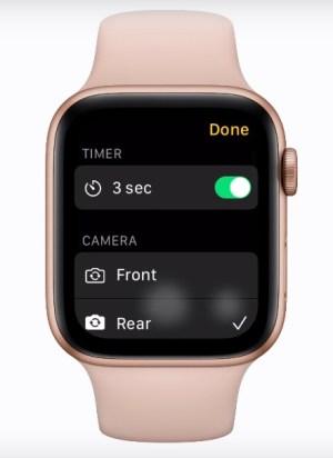 Opciones para tomar fotos Apple Watch