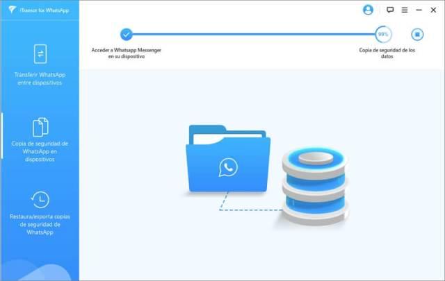 Realizando copias de seguridad WhatsApp