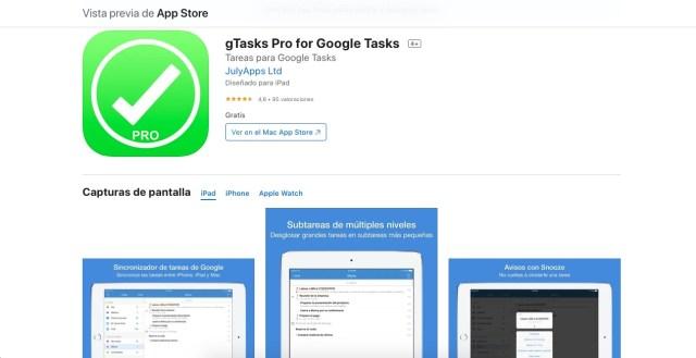 Apps y juegos gratis, gTasks Pro