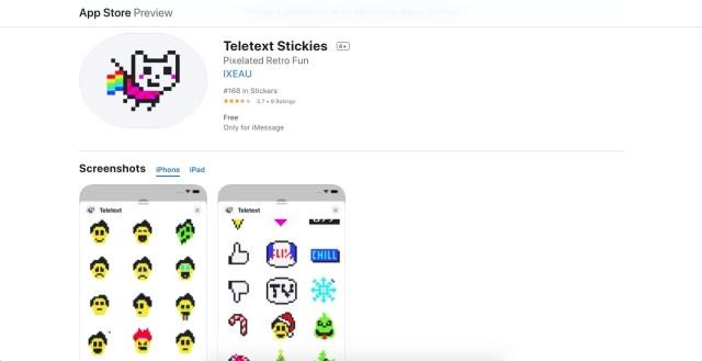 Teletext Stickers