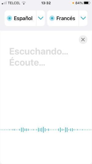 Traducir con la voz en iPhone