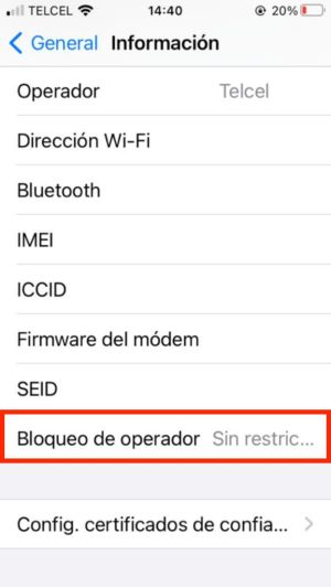iPhone libre de operador