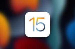 Logo iOS 15 con fondo