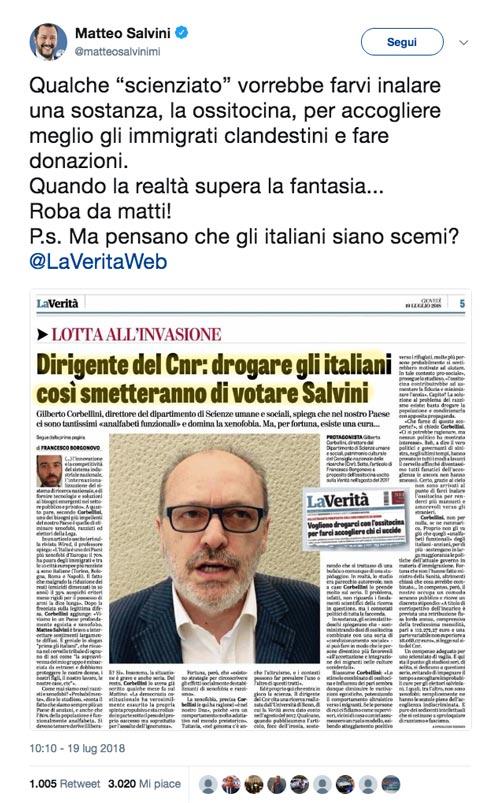 Ministro Salvini