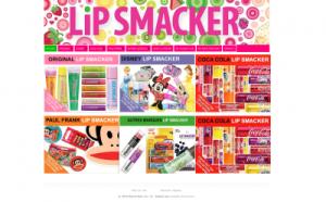 Site de Lipsmacker réalisé sous WordPress