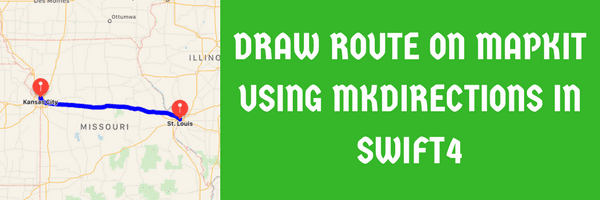 Draw route on MapKit using MKDirections in swift4
