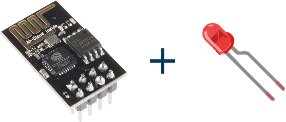 Wireless controlled LED using ESP8266