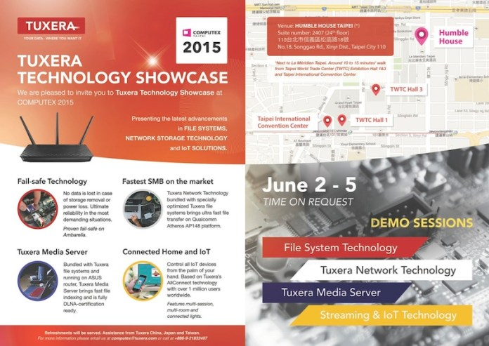 Tuxera Technology Showcase 2015