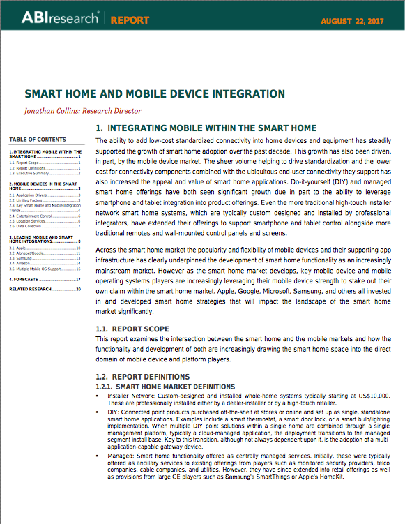 ABI Smart Home and Mobile