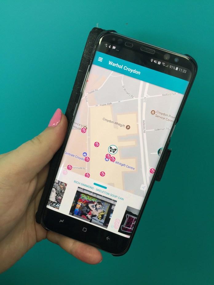Warhol App map