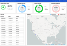 Rambus IoT Security Service UI