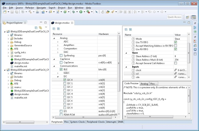 Cypress ModusToolbox Software Suite