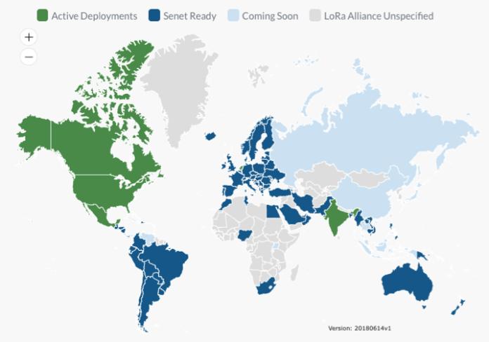 Senet Coverage Map
