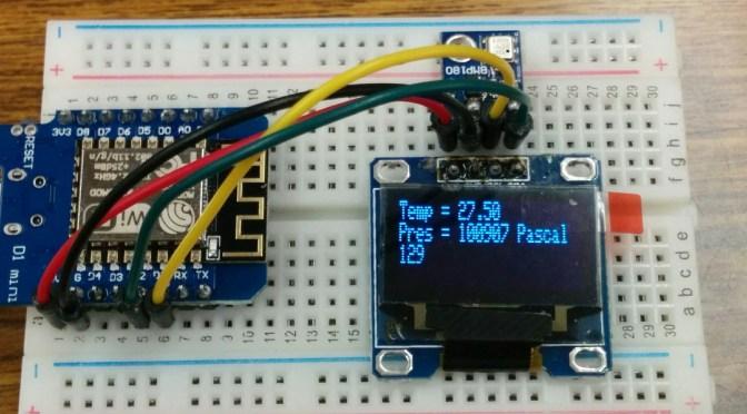 WeMos (b5) I2C (BMP180+OLED)