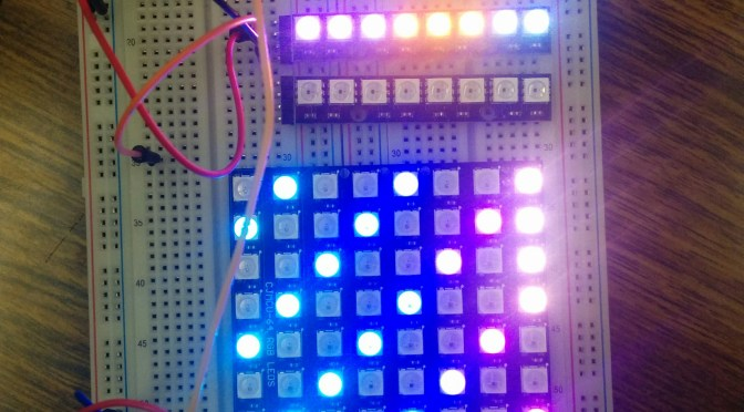 WeMos (10) Adafruit NeoPixel LED Matrix