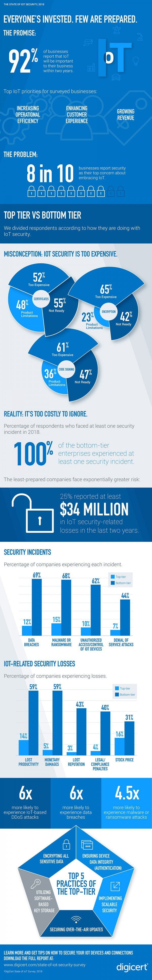 Infographic by DigiCert: IoT security