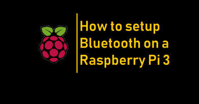 How to setup Bluetooth on a Raspberry Pi 3