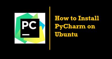 How to Install PyCharm on Ubuntu