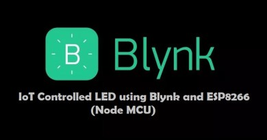 LED using Blynk and ESP8266 (Node MCU)