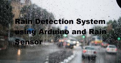 Rain Detection System using Arduino and Rain Sensor