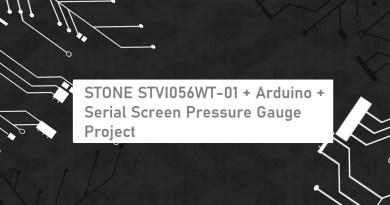 STONE STVI056WT-01 + Arduino + Serial Screen Pressure Gauge Project