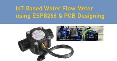 IoT Based Water Flow Meter using ESP8266 PCB Designing