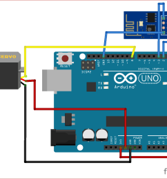 circuit diagram for esp8266 based webserver to control servo motor from webpage [ 1282 x 1006 Pixel ]