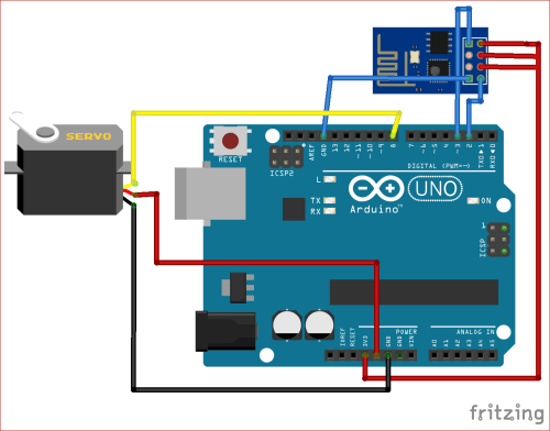 small resolution of circuit diagram for esp8266 based webserver to control servo motor from webpage