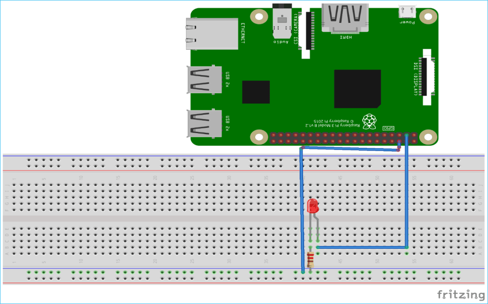 medium resolution of raspberry pi led circuit connections to control using blynk app