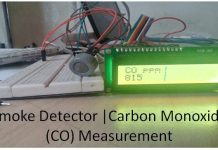 arduino smoke detector CO measurement