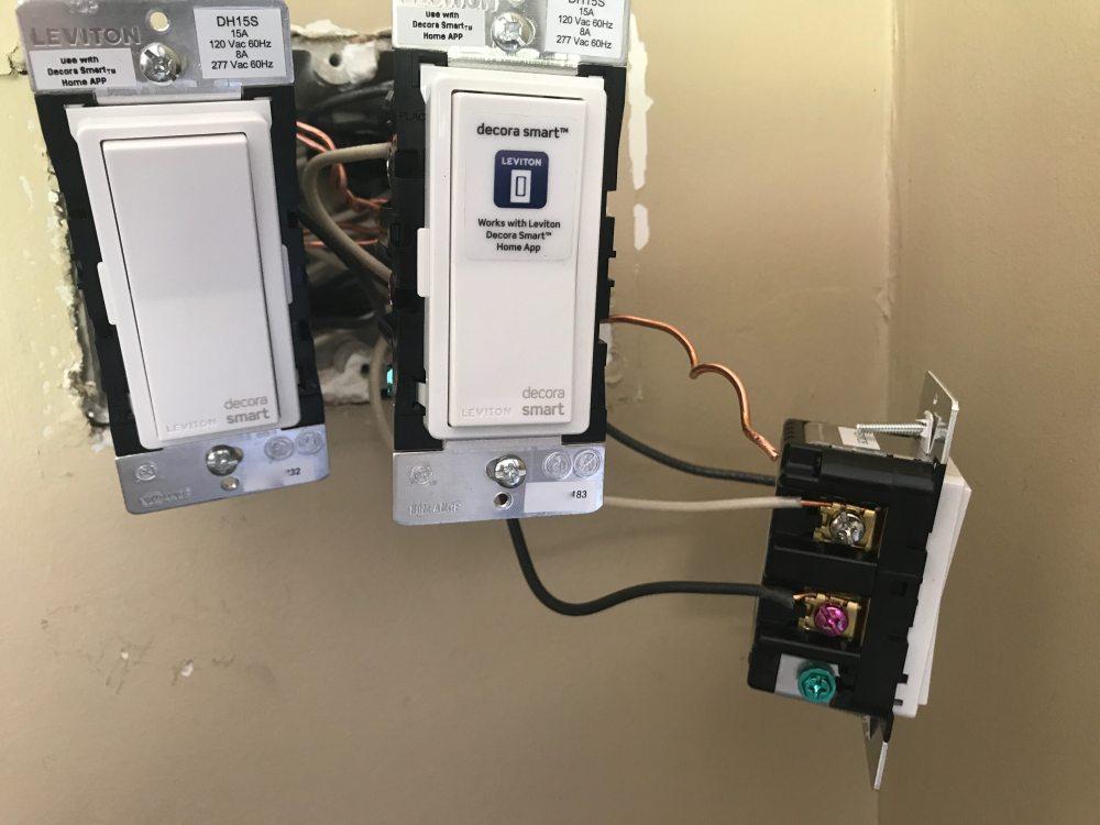 medium resolution of leviton homekit light switch installed